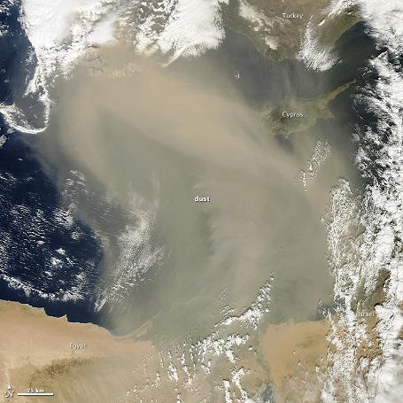 Cypern vejr - Støvstorm