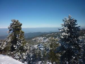 Troodos bliver iført sin vinterdyne i januar og februar, og det er muligt at stå på ski på Mt. Olympus