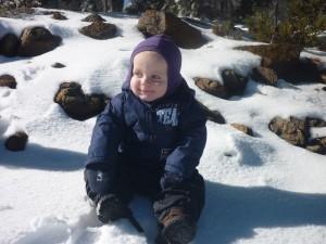 Jamies første gang i sneen