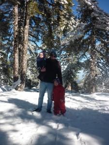 Familien Madsen på tur i Troodos i januar