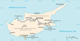 Den grønne linje adskiller Nord- og Sydcypern fra hinanden