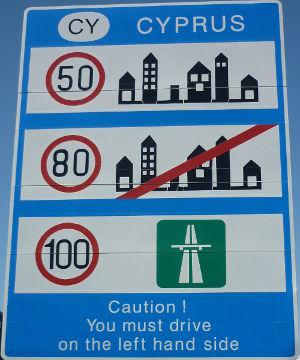 Hastighedsgrænser i Cypern