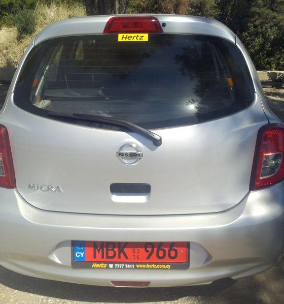 røde nummerplader i Cypern