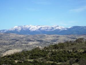 Olympus bjerget i Trodos regionen