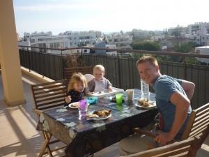 Frokost på altanen 1. juledag 2014