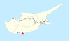 Limassols placering i Cypern