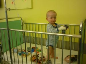 Jamie måtte atter en tur på sygehuset.