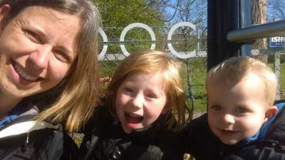 Og der ventes på bussen selfie :)
