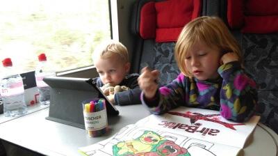 På togtur tværs over Danmark